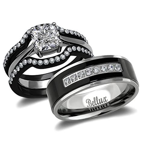 Wedding Rings Matching Sets by His And Hers Wedding Ring Sets Couples Matching Rings