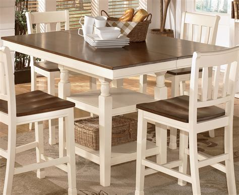 whitesburg square dining room counter extention table