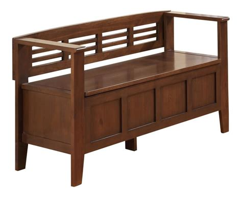 rustic storage benches amazon com simpli home adams entryway storage bench