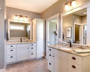 Bathroom Mirror Trim Ideas inspiration for a transitional bathroom remodel in minneapolis with an