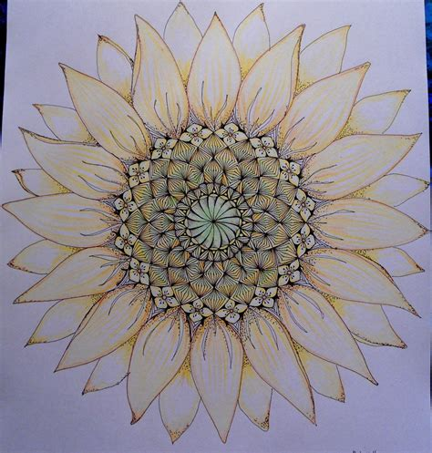 sunflower mandala tattoo girassol mandala mandala
