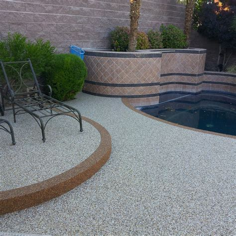pebble stone coatings in las vegas nv concrete yellow
