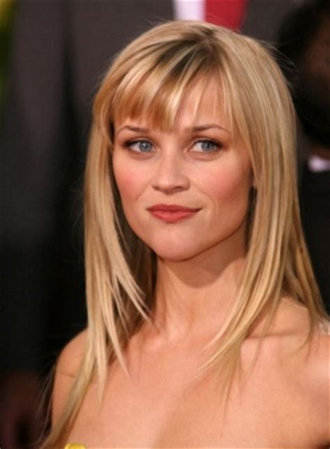 hairstyles with bangs reese witherspoon the bloomin couch the best haircut for your face shape