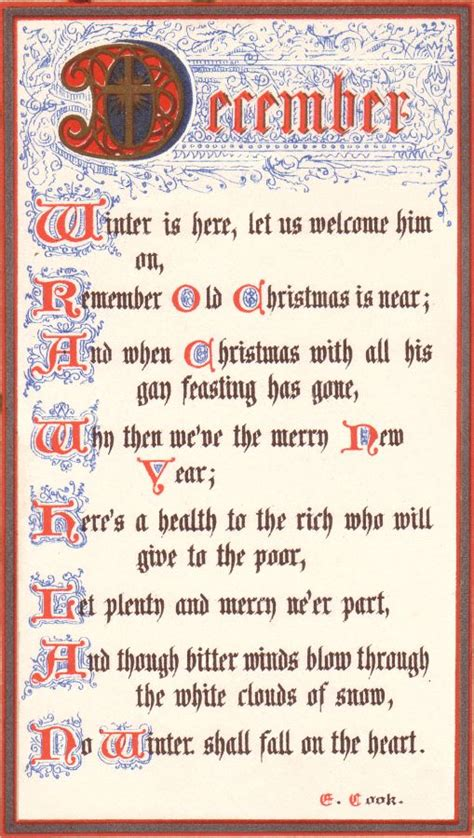 christmas customs eliza cook poem  december  calligraphy  christmas fashion history