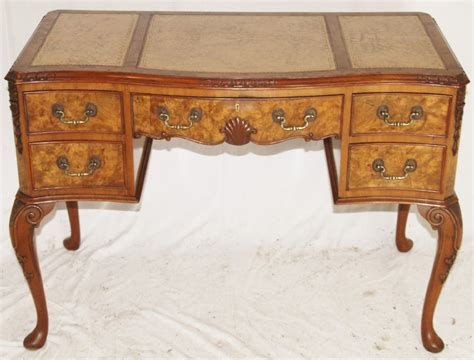 vintage queen anne desk queen anne style burr walnut writing desk 261717