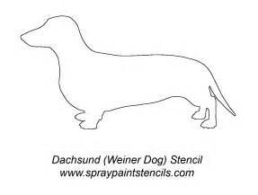 printable animal outlines animal stencil free stencil stencil dachshundstencil