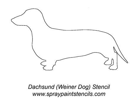 printable stencils of dogs www spraypaintstencils com dachshund don t know where i