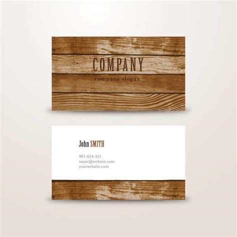 wood business card template wooden background business card vector template