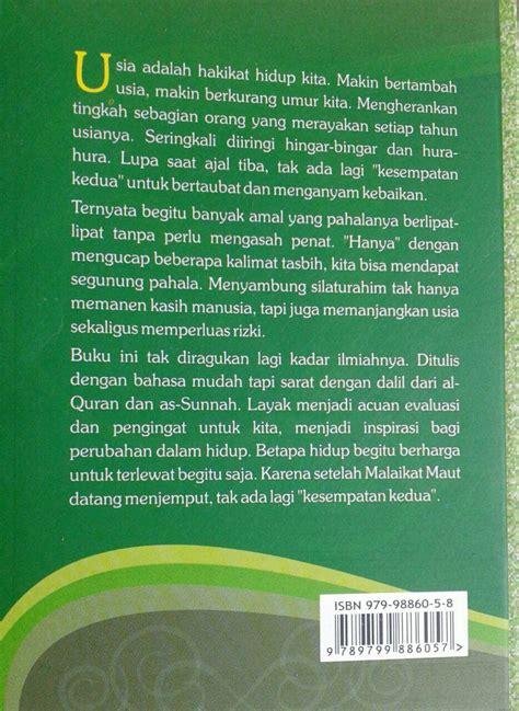 Buku Dahsyatnya Shalat Tasbih buku manajemen umur resep sunnah menambah pahala dan usia