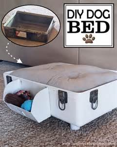 how to make a diy dog bed from a suitcase craft your