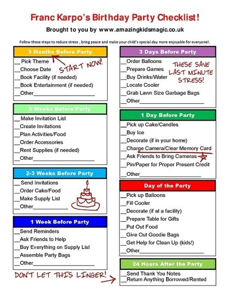 party planning tips for organizing children s birthday parties 95 birthday party supplies list beautiful house party