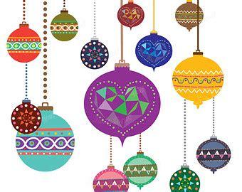 free printable vintage ornaments clipart balls etsy