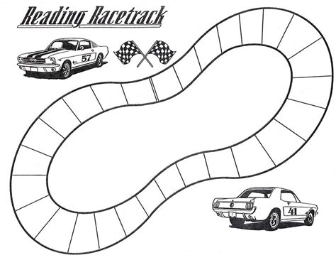 blank race track template fig 1 exle of a reading racetrack paper