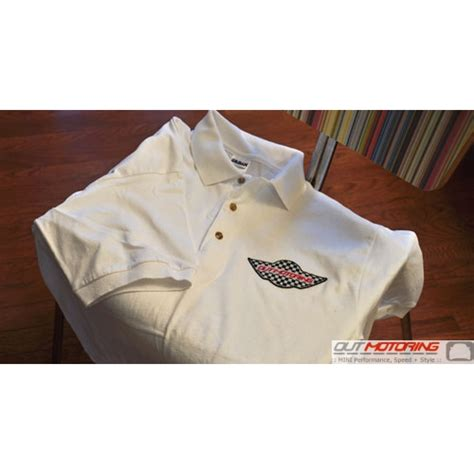 Polo Shirt Mini Cooper Logo 1 by Out Motoring White Polo Shirt With Mini Wings Logo Mini