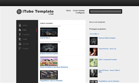 12 video blogger templates like youtube for video sites