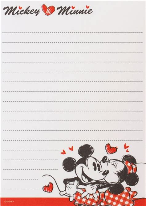 disney wallpaper note cute red mickey mouse kiss heart disney note pad from