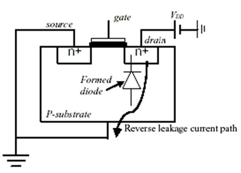 diode leakage current test design with low power while limiting leakage ee times
