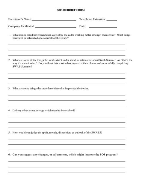psychology debrief template 2008 debrief form