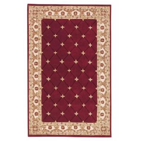 home decorators collection burgundy 9 ft x 12 ft