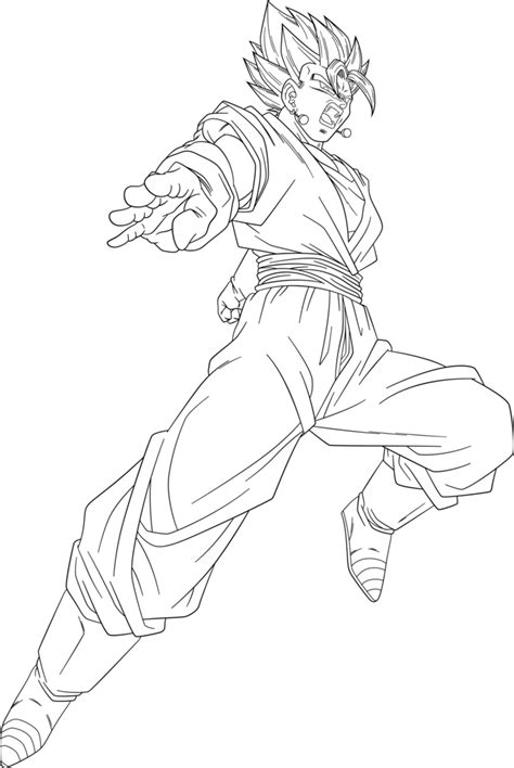 Vegito Coloring Pages coloriage vegito coloring pages sketch coloring page