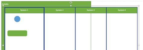 visio 2013 swimlane layout visio uml activity diagram equally space
