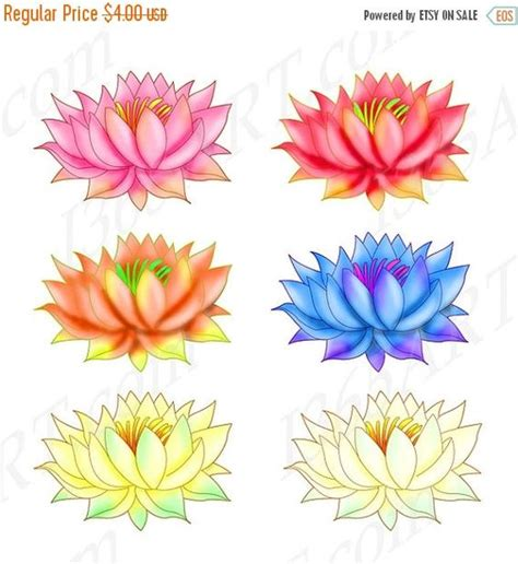lotus flower colors lotus clipart lotus clip lotus graphics rainbow