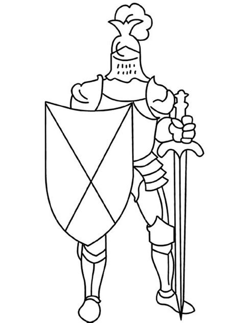 coloring page of knight in armor free coloring pages of knight shield