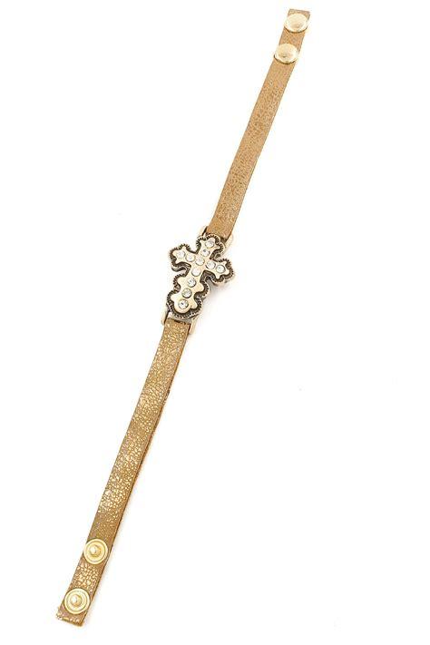 rhinestone faux leather bracelet rhinestone cross faux leather bracelet bracelets