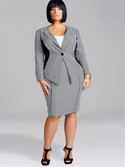 women plus size church suits