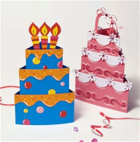 Paper Birthday Cake Craft - cathie shuttleworth downloadable cake papercraft