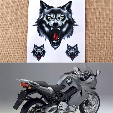 Roller Tattoo Aufkleber by Helmaufkleber Sticker Motorrad Auto Lkw Roller Wolf Tattoo
