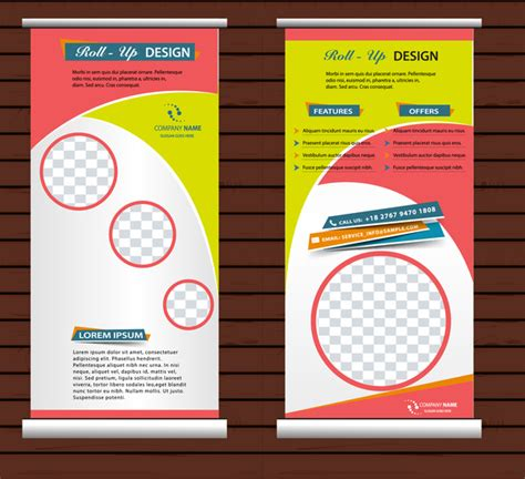 templates for roller banners roll up banner free vector download 10 558 free vector