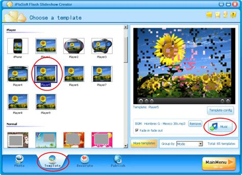 flash animation make a flash slideshow player with photos
