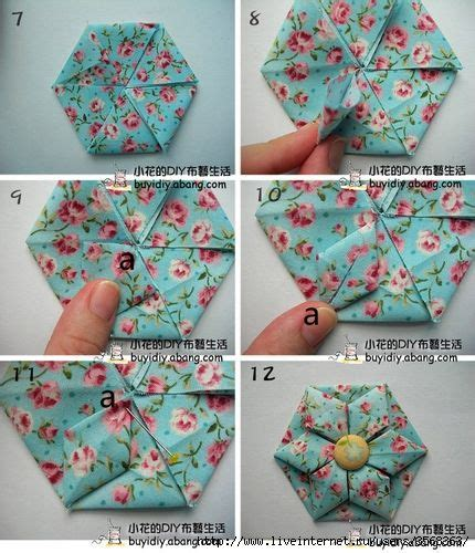 Origami Fabric Flowers - 25 best ideas about fabric origami on fabric