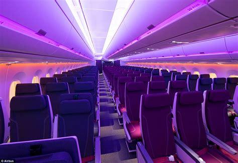 a350 cabin inside qatar airways new a350 1000 aircraft daily mail