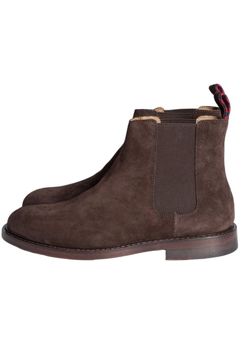 ralph chelsea suede boots in brown newent