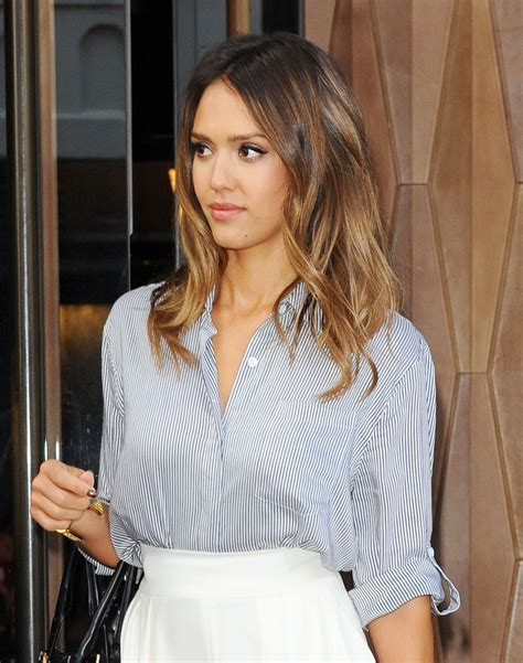 Jessicas New Hair by Alba Casual Style Out In New York City August