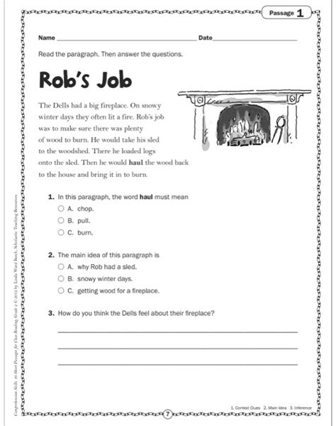 Free Comprehension Worksheets For Grade 2 by Reading For Grade 2 Boxfirepress