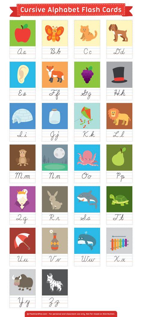 printable cursive alphabet flash cards free printable cursive alphabet flash cards download them