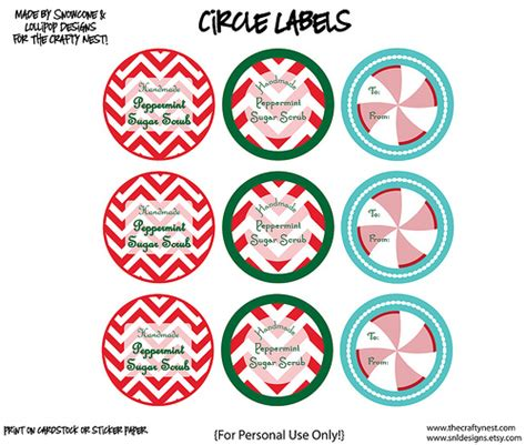 printable label for peppermint sugar scrub 5 best images of printable peppermint bath salt labels