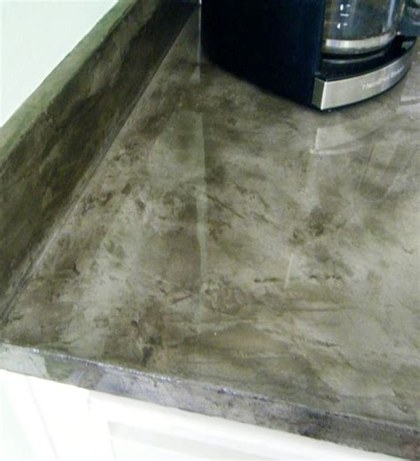 concrete veneer countertops with exopy clear coat custom