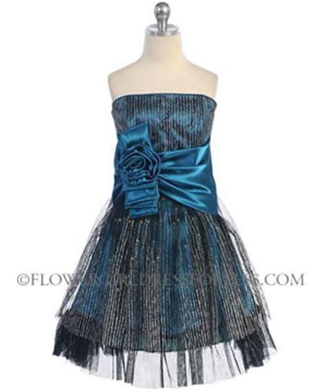 cbjtl tween girls dress style  teal sleeveless