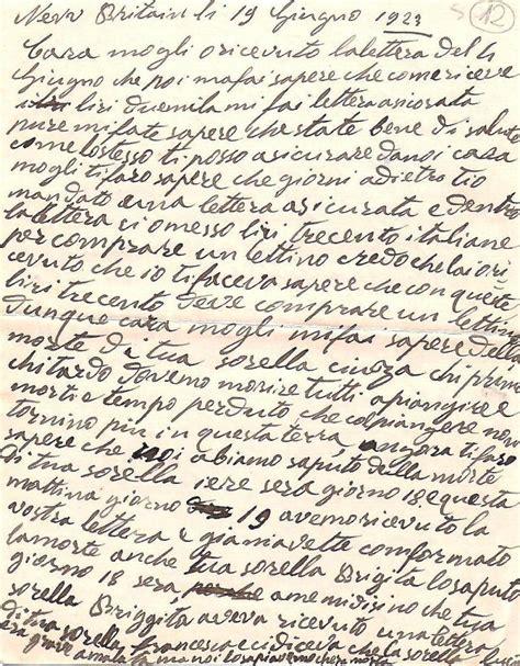 lettere di emigranti italiani casa emigranti italiani letters home