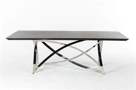 Modern Dining Table Base Ultra Contemporary Wenge Dining Table With Unique Steel Base Detroit Michigan Vlaby