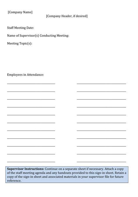 download standard meeting sign in sheet pdf word excel
