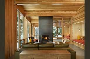 Modern Cabin Interior Lake Wenatchee Cabin Modern Living Room Seattle By