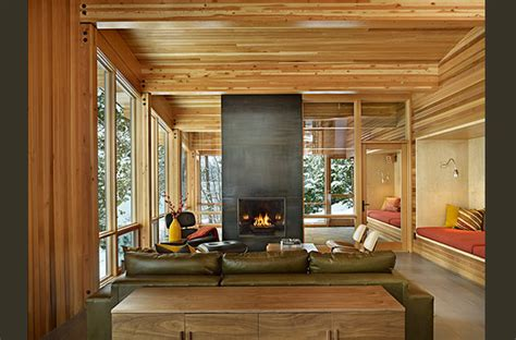 modern cabin interior lake wenatchee cabin modern living room seattle by