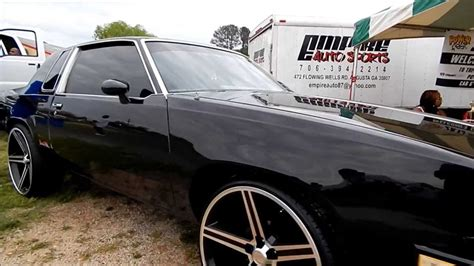 blacked out oldsmobile cutlass on 24 quot irocs