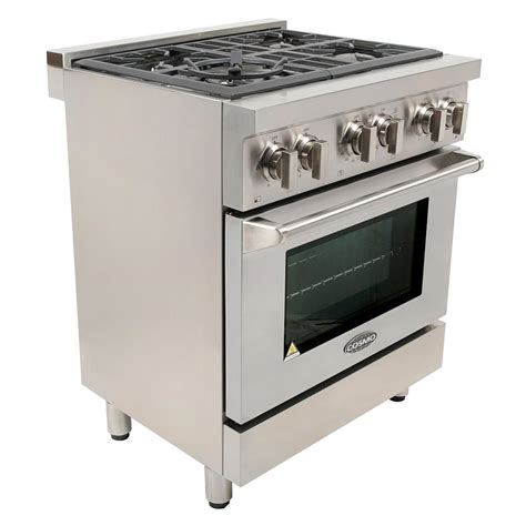 Oven Gas Cosmos cosmo commercial style 30 in 3 9 cu ft dual fuel range with 4 italian burners cast iron
