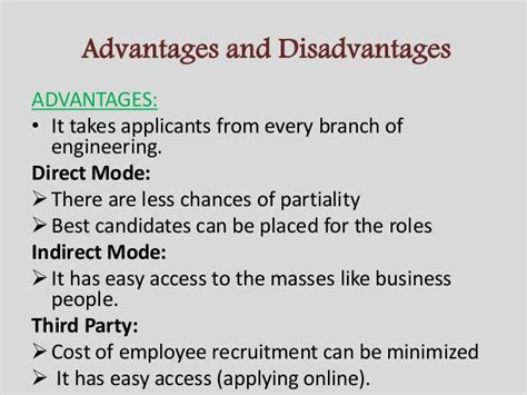 Disadvantages Of Mba In Hr by Recruitment Process Of Infosys